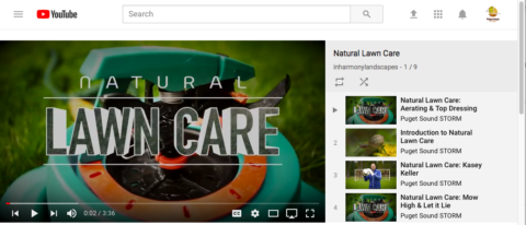 See video tips for fall lawn care on our YouTube playlist on Natural Lawn Care. In Harmony Sustainable Landscapes