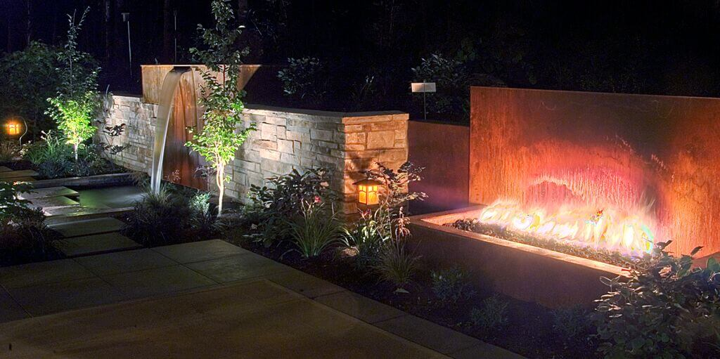 Add lighting for an all-season landscape