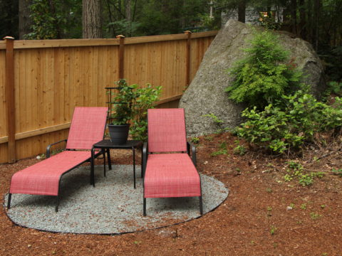 You might enjoy conversation or just hanging out with another person in your quiet space. In Harmony Sustainable Landscapes
