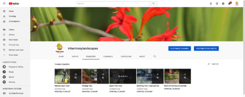 Visit our YouTube channel for tips on natural lawn care, watering, pruning and more. In Harmony Sustainable Landscapes